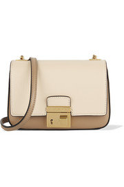 Gia small two-tone leather shoulder bag
