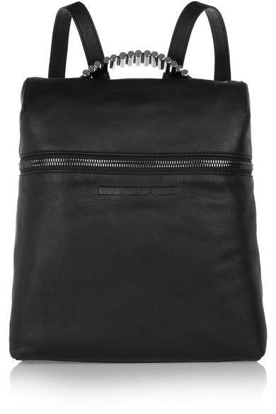 McQ Alexander McQueen - Embellished Textured-leather Backpack - Black