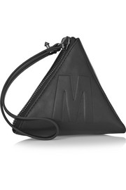 McQ Alexander McQueen Pyramid embossed leather clutch