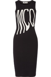 McQ Alexander McQueen Printed stretch-cotton ponte dress