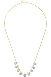 Revival 18-karat gold, pearl and diamond necklace