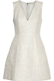 Pacey metallic cotton-blend tweed mini dress