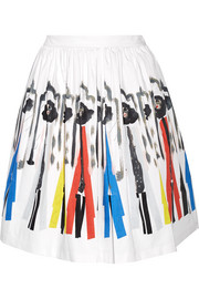 Hale printed stretch-cotton skirt