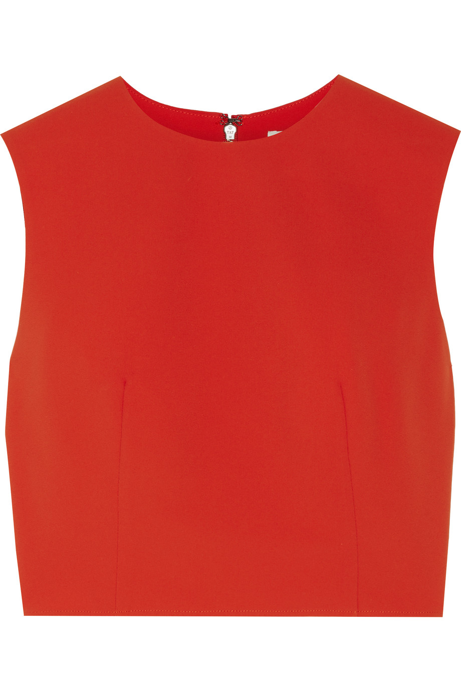 Alice + Olivia Klynn Crepe Top, Red, Women's, Size: XS