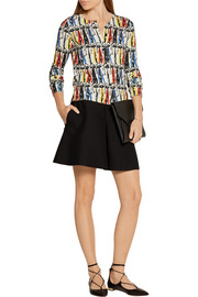 Stacey Montage printed cotton cardigan