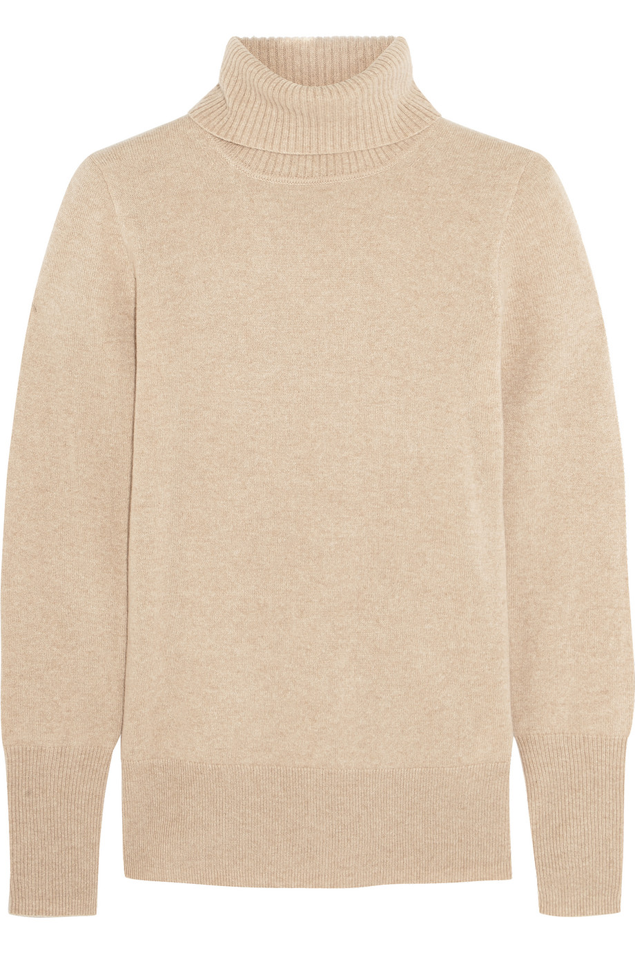 J.Crew Cashmere Turtleneck Sweater, Beige, Women's, Size: L