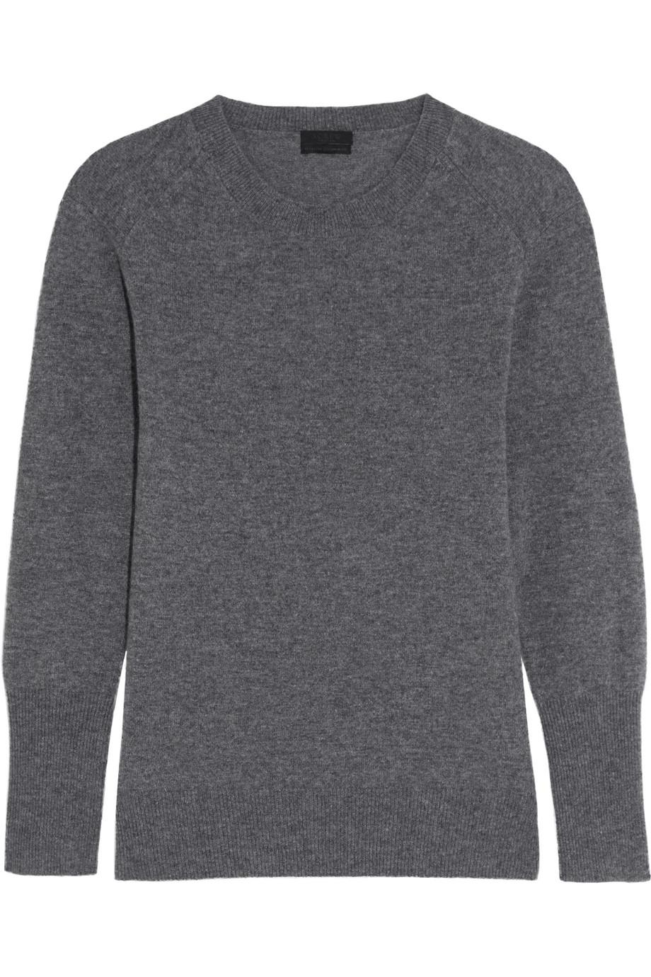 J.Crew Chenie Cashmere Sweater, Charcoal, Women's, Size: XL