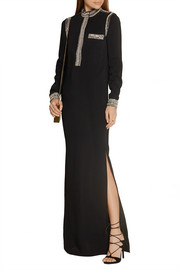Lanvin Embellished stretch-crepe gown