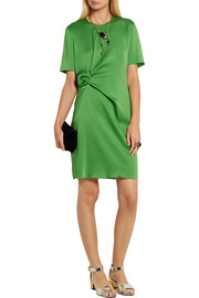 Lanvin Gathered satin-crepe mini dress