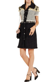 Lanvin Fringed bouclé-tweed mini dress