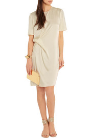 Lanvin Gathered satin-crepe dress
