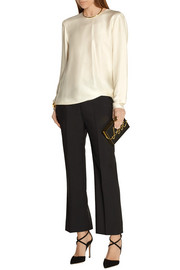 Lanvin Draped satin-crepe blouse