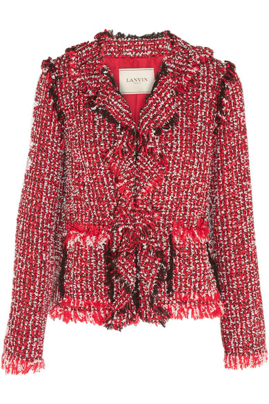 Ruffled Tweed Cardigan Lanvin Buy Cheap Deals Discount For Nice APN0ztVlwT