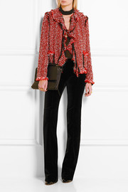 Lanvin Ruffled cotton-blend tweed jacket