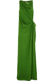 Lanvin Gathered silk crepe de chine gown