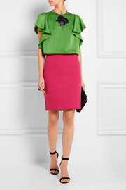 Lanvin Ruffled satin top
