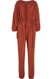 Lanvin Tasseled washed-satin jumpsuit