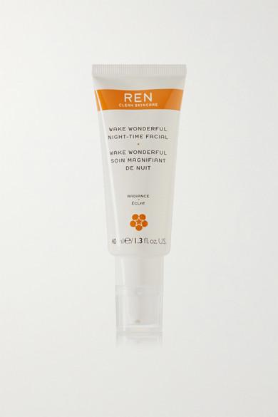 REN Skincare - Wake Wonderful Night-time Facial, 40ml - Colorless