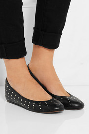 Lanvin Studded leather ballet flats