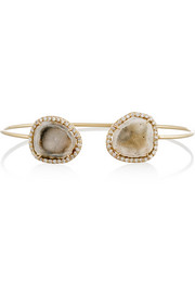 18-karat gold, light geode and diamond cuff