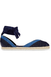Pierre Hardy Bauhaus Beach denim and leather espadrilles