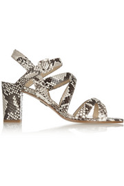 Paul Andrew Lotus python slingback sandals