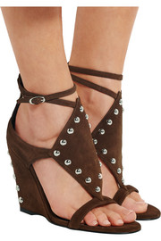 Giuseppe Zanotti Studded suede wedge sandals