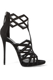 Raquel cutout suede sandals