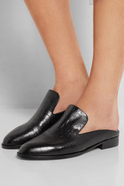 Alicek croc-effect leather slippers