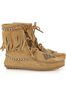 BessTrampers studded suede boots