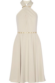 Halterneck crepe dress