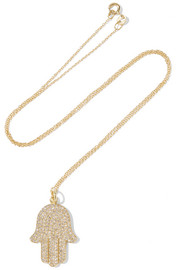 Jennifer Meyer Hamsa 18-karat gold diamond necklace