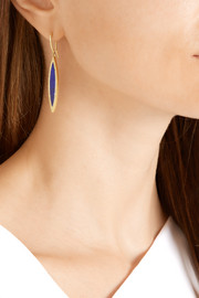 Jennifer Meyer 18-karat gold, lapis lazuli and diamond earrings