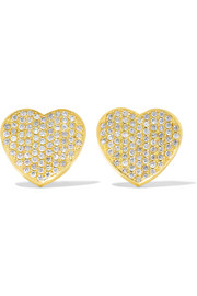 Jennifer Meyer 18-karat gold diamond heart earrings