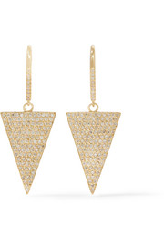 Jennifer Meyer 18-karat gold diamond triangle earrings