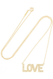 Love 18-karat gold diamond necklace