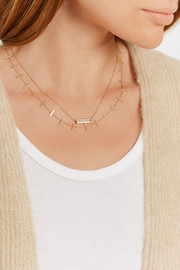 Jennifer Meyer Cross Bar 18-karat gold necklace