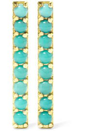 Jennifer Meyer 18-karat gold turquoise earrings
