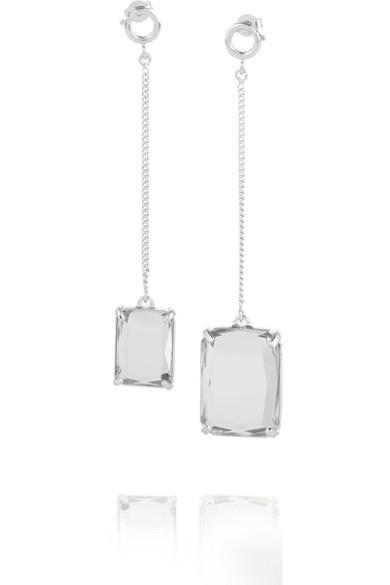 Maison Margiela - Silver Crystal Earrings - one size
