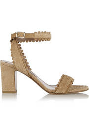 Leticia perforated suede sandals