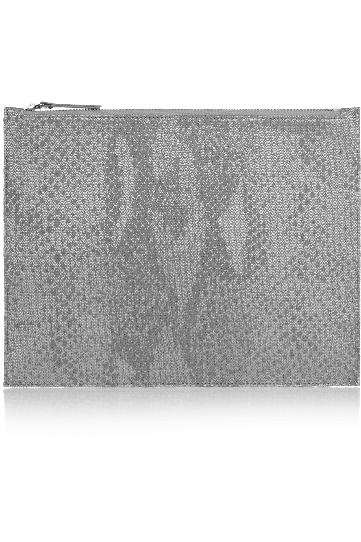 Maison Margiela Hyper-reflective snake-print jacquard pouch