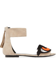 Pierre Hardy Oh Roy appliquéd suede sandals