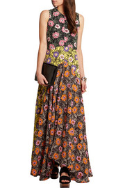 Marni Floral-print voile maxi dress