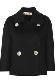 Marni Double-breasted wool, cashmere and angora-blend coat