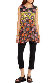Marni Floral-print voile top