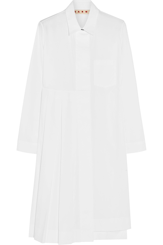 Marni Pleated cotton-poplin shirt dress