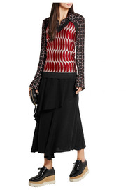 Marni Metallic knitted halterneck top