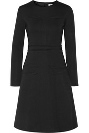 Cotton-blend neoprene dress