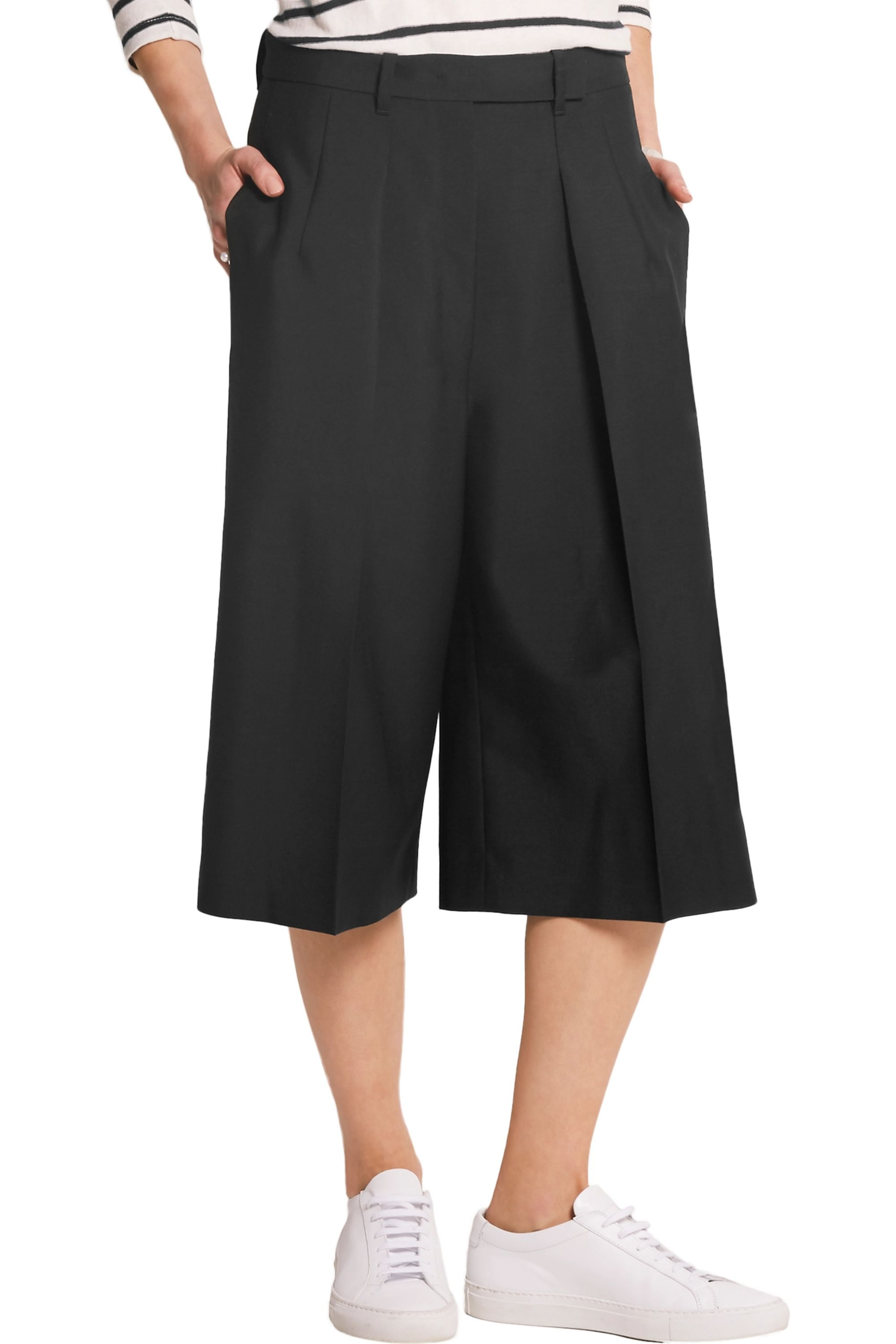 Jil Sander Wool and mohair-blend crepe culottes