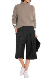 Wool and mohair-blend crepe culottes